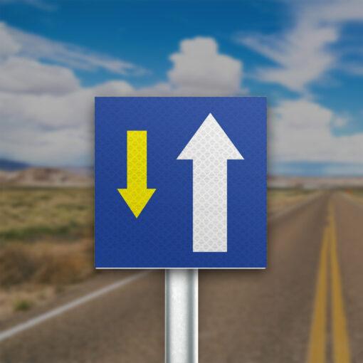 תמרור כיוון נתיב תחבורה ציבורית