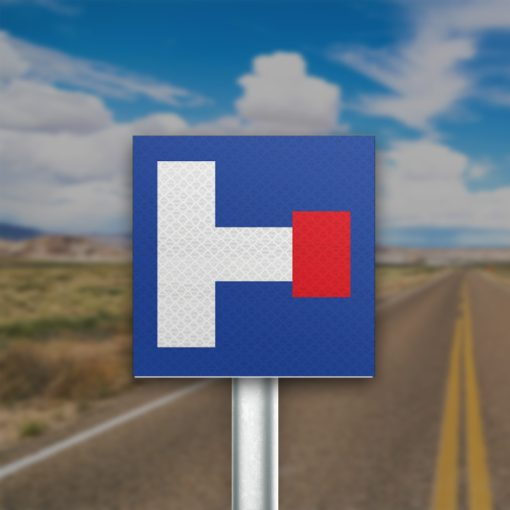 תמרור כביש ללא מוצא מימין