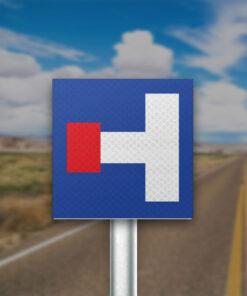 תמרור כביש ללא מוצא משמאל