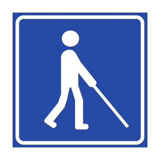 שלט שירות נגיש לעיוורים ולקויי ראיה