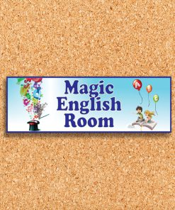 פלקט כותרת חדר אנגלית