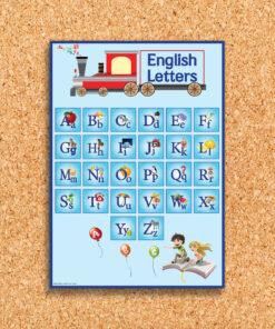 פלקט לוח אותיות אנגלית