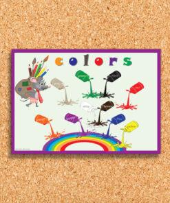 פלקט לוח צבעים באנגלית