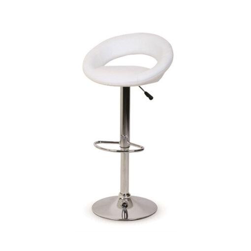 כיסא בר לבן לתערוכות