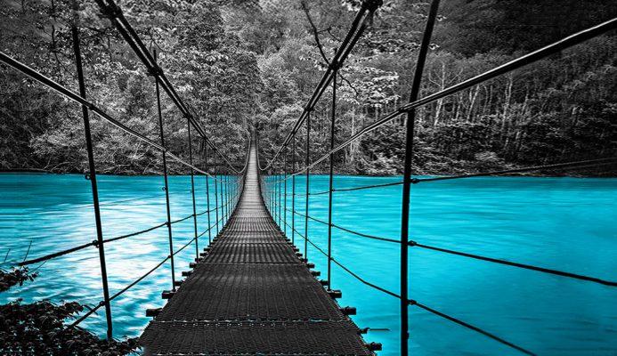 מדבקת קיר גשר