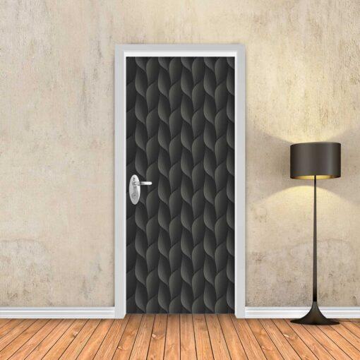 טפט לדלת קשקשים שחור