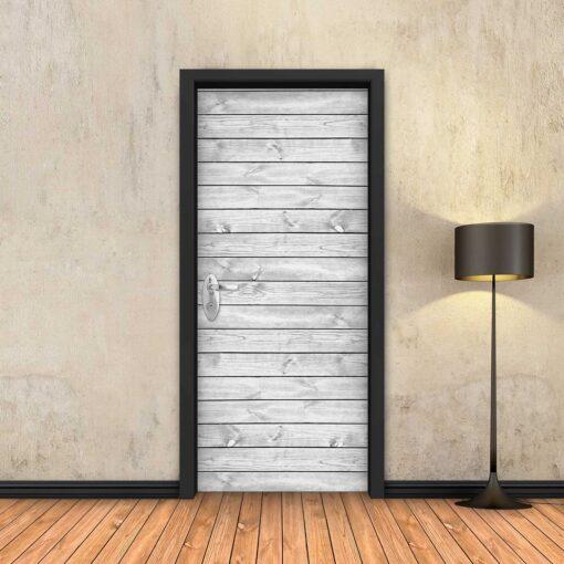 טפט לדלת לוחות עץ לבן