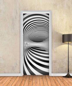 טפט לדלת שחור לבן עמוק