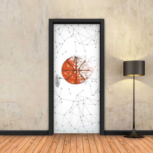 טפט לדלת כדורסל גיאומטרי