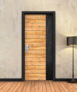 טפט לדלת עץ טבעי פס שחור