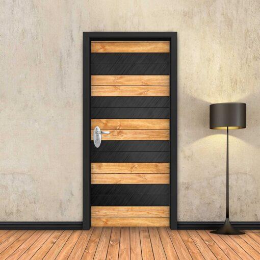 טפט לדלת עץ טבעי מחולק