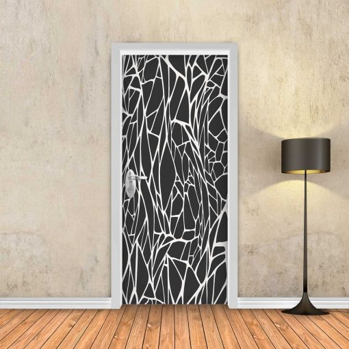 טפט לדלת חרוכה שחור לבן