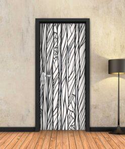 טפט לדלת שורשים שחור לבן