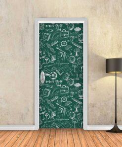 טפט לדלת לוח גיר ירוק