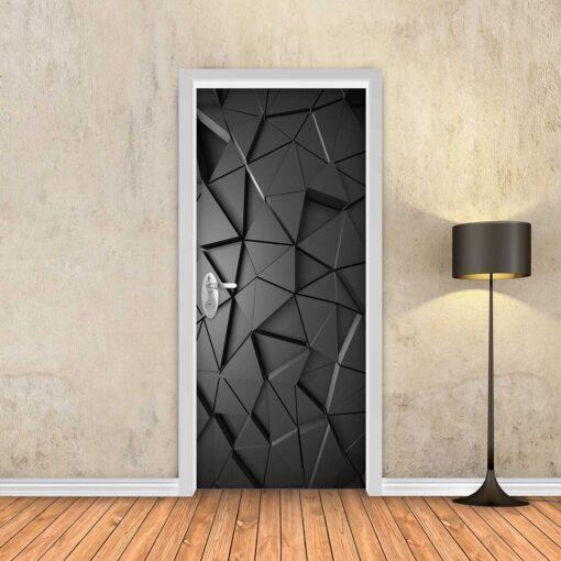 טפט לדלת שחור משולשים