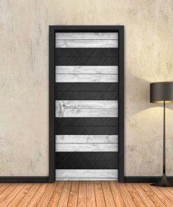 טפט לדלת עץ לבן מחולק