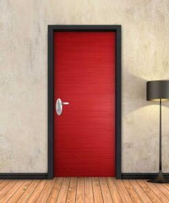 טפט לדלת אדום חלק