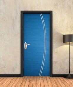 טפט לדלת כחול 2K פסי ניקל