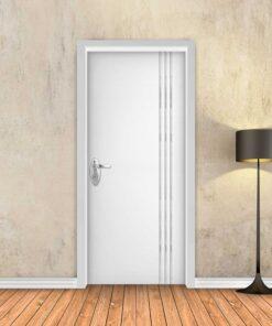 טפט לדלת לבן חלק 3 פסי ניקל