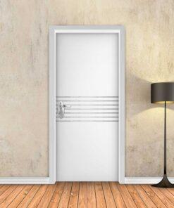 טפט לדלת לבן חלק 7 פסי ניקל