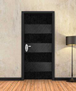 טפט לדלת לוחות מתכת פסים שחורים