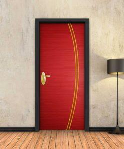 טפט לדלת אדום 2K פסי זהב