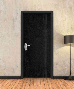 טפט לדלת בטון שחור 3 פסים שחורים