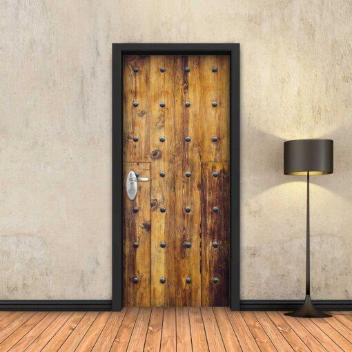טפט לדלת עץ עתיק