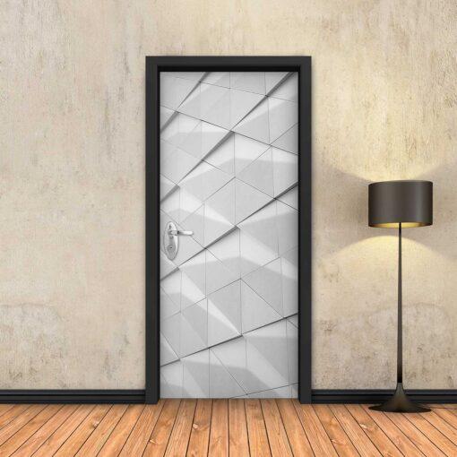 טפט לדלת שחור משולשי מתכת