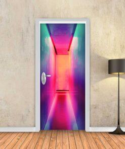 טפט לדלת אשלייה צבעונית