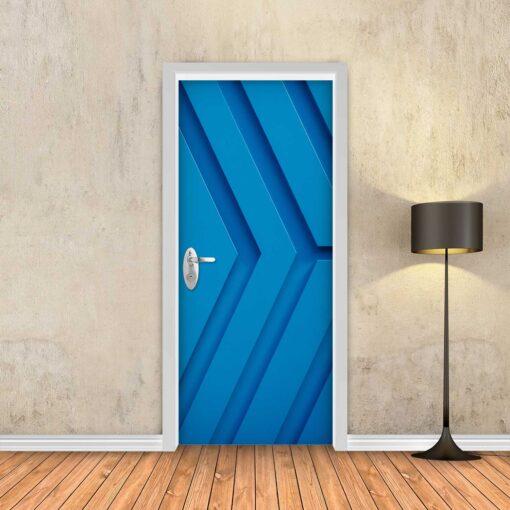 טפט לדלת כחול חצים תלת מימד