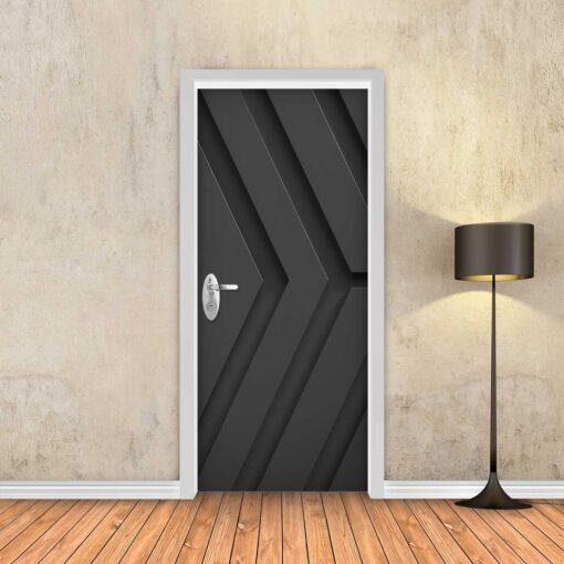 טפט לדלת שחור חצים תלת מימד