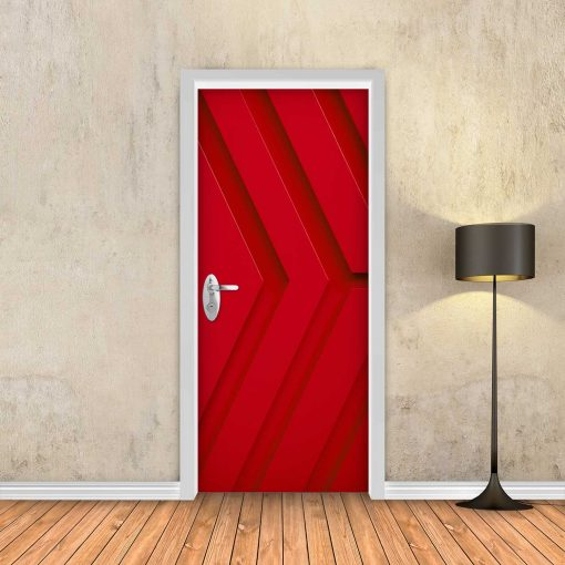 טפט לדלת אדום חצים תלת מימד