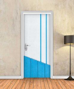טפט לדלת כחול מודרני משולב