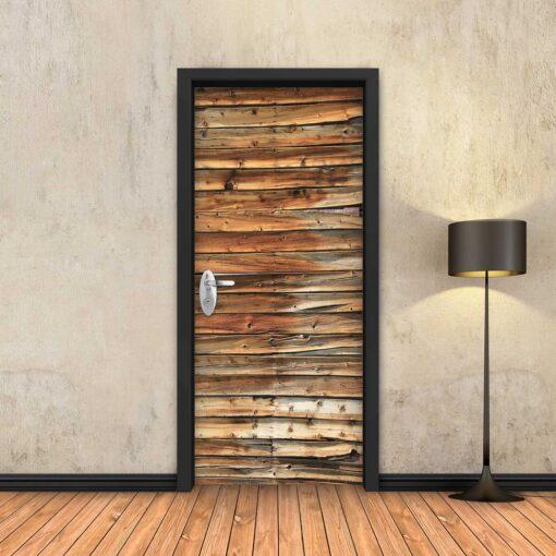 טפט לדלת פסי עץ אמיתי