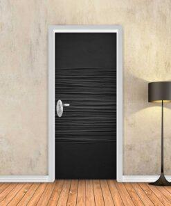 טפט לדלת חצי גלים שחור