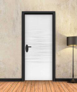 טפט לדלת חצי גלים לבן