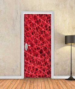 טפט לדלת רשת אדומה