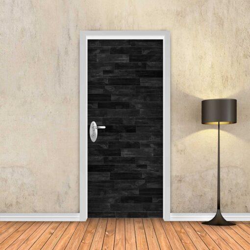 טפט לדלת פרקט שחור