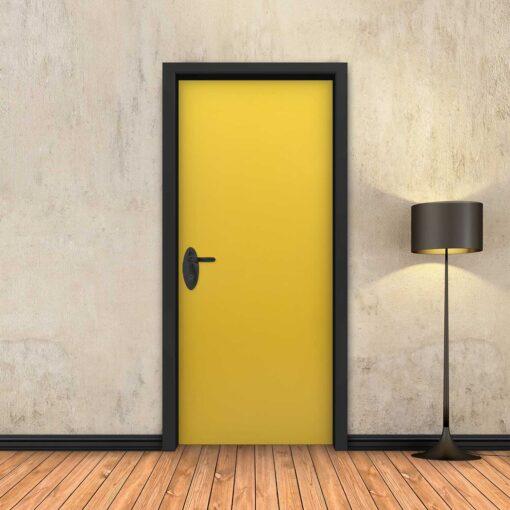 טפט לדלת צהוב חלק
