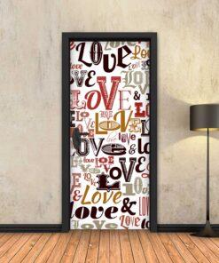טפט לדלת ענן מילים אהבה