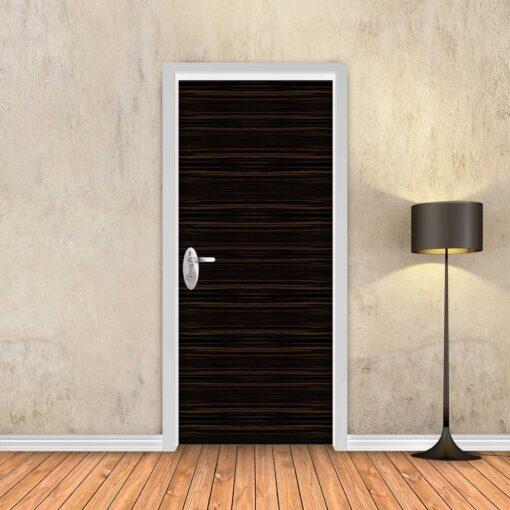 טפט לדלת עץ פורניר כהה