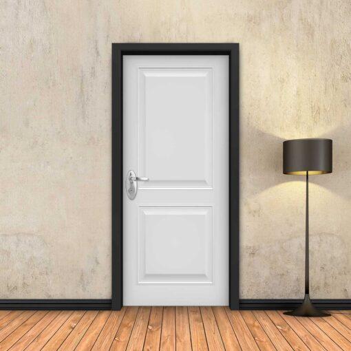 טפט לדלת לבן מסגרות כפול