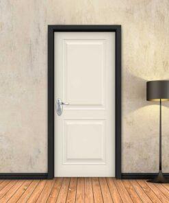 טפט לדלת שמנת מסגרות כפול