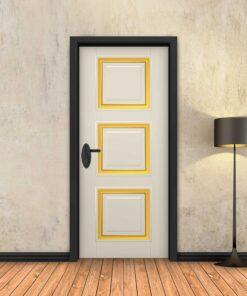 טפט לדלת שמנת מסגרות זהב