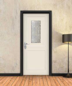 טפט לדלת שמנת מסגרות עם חלון