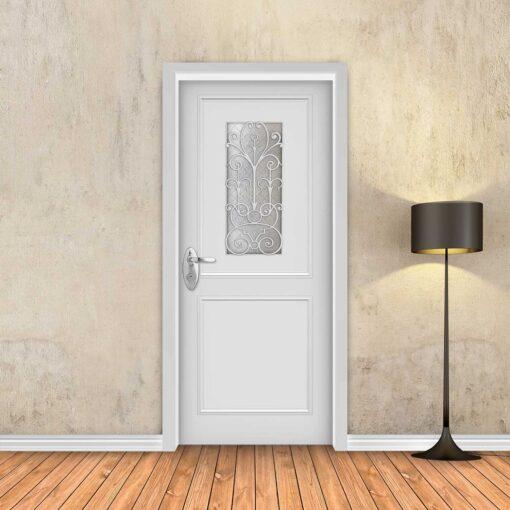 טפט לדלת לבן מסגרות עם חלון