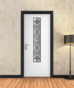 טפט לדלת לבן חלון צר