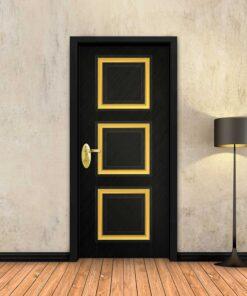 טפט לדלת שחור מסגרות זהב