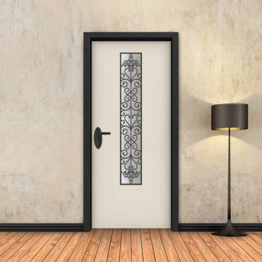 טפט לדלת שמנת חלון צר